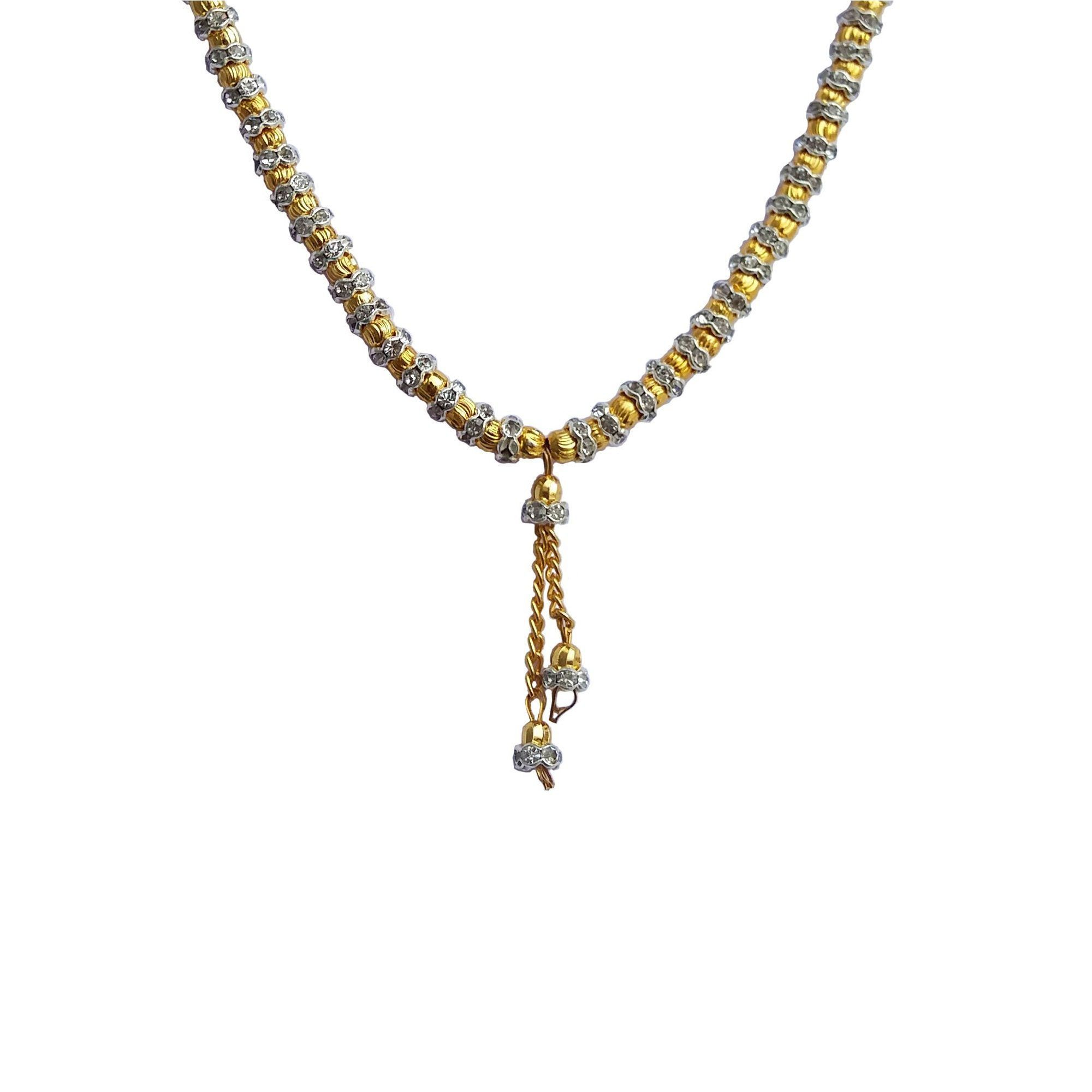 9b4aa88ed97 ... Ankur delight gold and rhodium plated american diamond combo of 2  mangalsutra for women